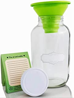 SMIJOS 4L Einmachglas groß mit Deckel I Fermentierglas ideales Kombucha Glas Kefir Glas l die große Öffnung erleichtert die Fermentation l Gärglas Sauerteig Glas