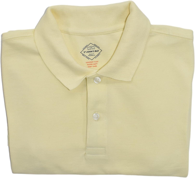 St. Jonh's Bay Men's Short Sleeve Polo (Lemon Meringue)