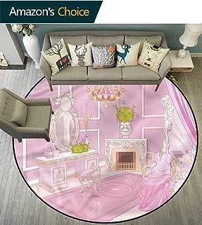 Teen Girls Bedroom Rug Palace Dressing Room Decorative Rug Diameter-35