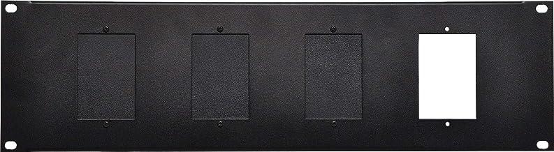 """3U 4 X Wall Plate 19"""" Rack Mount Panel"""