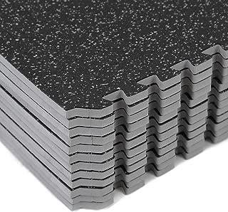 Clevr 48 sq ft Rubber Top Thick EVA Foam Exercise Mat | Interlocking Gym Foam Floor Mat Tiles (24