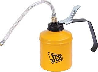 """JCB Tools Oil Can - Lever type 500 ml, Steel Pump Body with 9"""" Flexible PVC Spout, 22025978"""