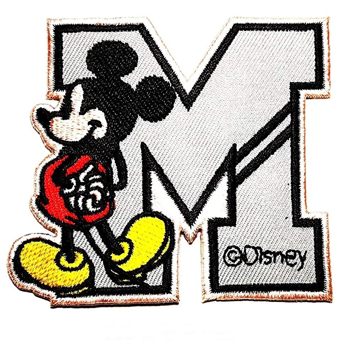 Mickey Mouse Letter M patch Iron on Logo Vest Jacket cap Hoodie Backpack Patch Iron On/sew on patch