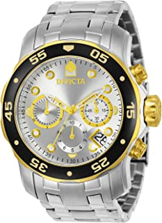 Invicta Mens 80040 Pro Diver Stainless Steel Watch with Link Bracelet