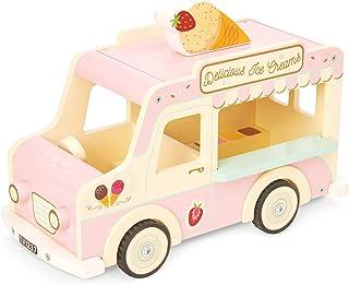 Le Toy Van Sophie's träbil, klassisk ikonisk retrostil, leksaksfordon med bagage och öppen ovansida