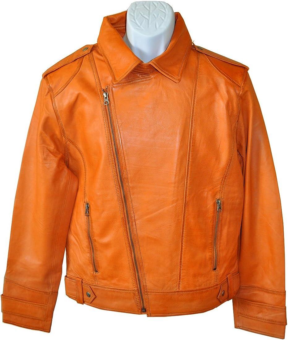 CD-2 Men's Leather Jacket Fashion Flash