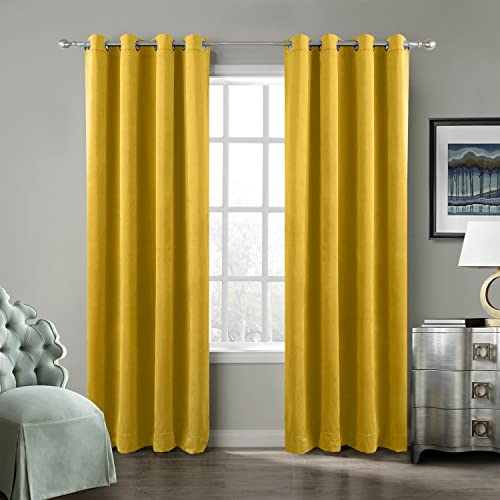 Yellow Curtains for Living Room: Amazon.co.uk