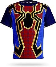 PrintMyFashion Spider-Man Superhero Full Front Printed Polyester T-Shirt for Kids Boys & Girls