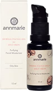 Sponsored Ad - Annmarie Skin Care Herbal Facial Oil for Oily Skin - Purifying Moisturizer with Black Cumin Seed Oil, Hazel...