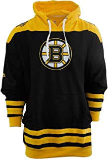 Majestic Men's Boston Bruins Double Fleece Hoodie, Big and Tall Sizing