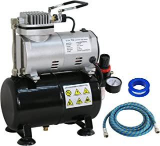 BBBuy Portable Pro 1/5 HP Airbrush Air Brush Compressor Kit with 3L Tank & 6FT Hose Multipurpose for Hobby Paint Cake Nail Tattoo (TC-20T)