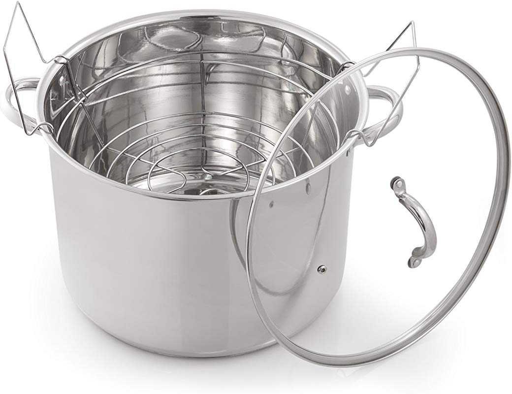 McSunley 620 Medium Stainless Steel Prep N Cook Water Bath Canner 21 5 Quart Silver