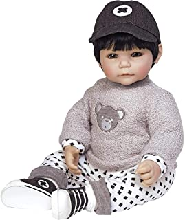 Adora Toddler Doll Bubba Bear Boy Doll with appliquéd Sweater, Patterned Pants and Black Sneakers, 20 inches