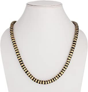 Polinter-Brass Metal Stacked Snake Coil Wrap Around Necklace