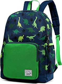 Backpack for Boys, VASCHY Cute Lightweight Water Resistant Preschool Backpack for Boys and Girls Kindergarten Bookbag Dino...