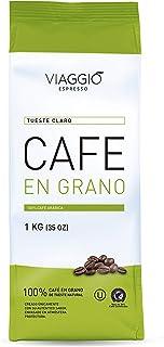 Viaggio Espresso Café en grano tostado 100% café arábica Tueste claro (1 Kg)