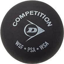 Dunlop squash ball, black.