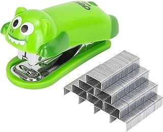 Deli Mini Cute Crocodile Desktop Stapler, Office Stapler, 12 Sheet Capacity, Includes Built-in Staple Remover & 1000PCS No...