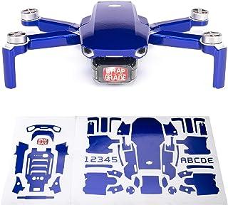 Wrapgrade Skin sticker set kompatibel med DJI Mini 2 (STRATOSPHERE BLUE)