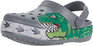 Kids' Fun Lab Dino Band Lights Clog | Light Up, Slip on Water Shoes for Boys, Girls