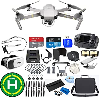 DJI Mavic Pro Platinum Edition Pro Accessory Bundle with Carry Case, 7 Piece Filter Kit, Battery Charging Hub, Landing Pad Plus Much More (1 Battery Total)