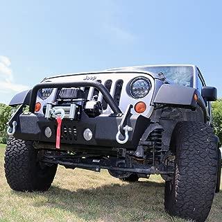 Tuff Stuff Stubby Front Winch Bumper, 07-18 Jeep Wrangler JK