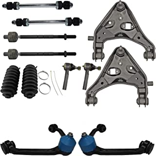 Detroit Axle - 12PC Front Upper and Lower Control Arm w/Ball Joint, Sway Bar, Inner Outer Tie Rod & Boot Kit for 95-01 Ford Explorer - [98-11 Ranger] - 97-01 Mountaineer - TORSION BAR Sus.