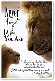 DesDirect Store Never Forget Who You are You are Braver Than You Believe Print Poster White - Satin Portrait Poster Wall Art Home King