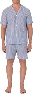 Men's Broadcloth Short Sleeve Knee-Length Pajama Set