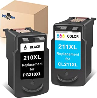 Pitooler Remanufactured Ink Cartridge Replacement for Canon PG-210XL CL-211XL 210 211 XL Black Color Use with Pixma MP495 ...