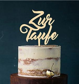 Manschin-Laserdesign Cake Topper Acryl/Holz Zur Taufe heilige Taufe, Topper, Caketopper, Einstecker, Stecker, Torte, Kuchen, Tortenstecker Holz Art.Nr. 5232