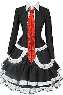 Celestia Ludenberg Black Dress Halloween Uniform Cosplay Costume