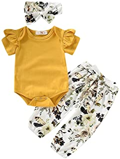 Newborn Baby Girls Clothes Cute Girl Baby Clothes Ruffles...