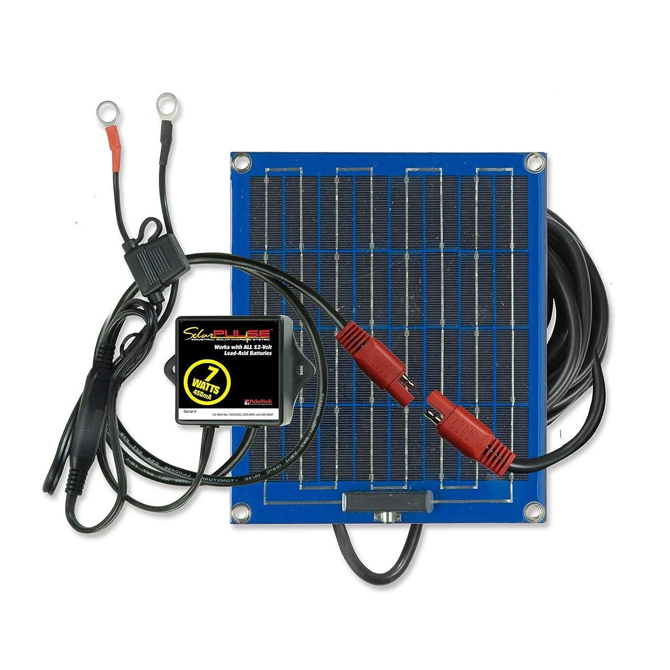 つかむメトリック描写PulseTech ソーラーパルス SP-7 ソーラーバッテリー充電器メンテナンス