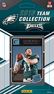 Philadelphia Eagles 2016 Donruss Factory Sealed Team Set with Carson Wentz Rookie card, Ron Jaworski, Zach Ertz plus