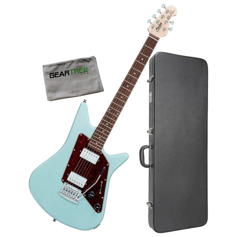 Cheap Sterling AL40-DBL-R1 Albert Lee Daphne Blue Electric Guitar Bundle w/Case and Cl Black Friday & Cyber Monday 2019