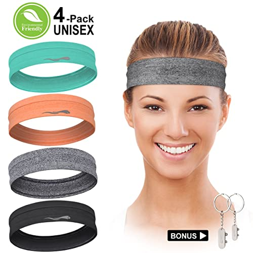 LUCKYGO Sweatbands for Women Men│Super Absorbent Sweat Bands Headbands with  Nonslip Grip│Stretchy 57ff31f660