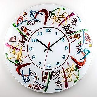 "Sandro Moro Vetro Design Reloj de pared""Kandinskji 3""."