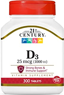 21st Century D 1000 IU Tablets, 300 Count