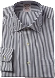 Mens 1818 Madison Fit Dress Shirt, 17 35, Blue