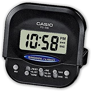 Casio Digital Alarm Clock Wake Up Timer Black, One Size