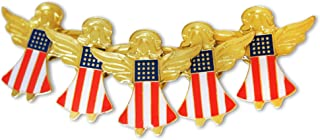 Patriotic American Flag Angels 5-Piece Lapel or Hat Pin &Tie Tack Set with Clutch Back by Novel Merk