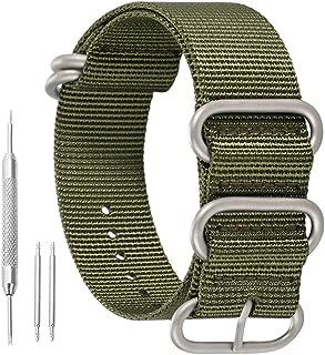 18-24mm ejército de Gama Alta Estilo Verde de la NATO Nylon balístico Banda de Reloj de reemplazo de la Correa de los Hombres Trenzado