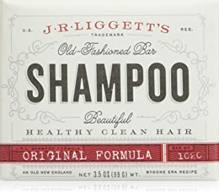 J.R.LIGGETT?S All-Natural Original Formula Shampoo Bar .65oz and Mini Travel EZ Pouch Pack, Supports Strong and Healthy Ha...