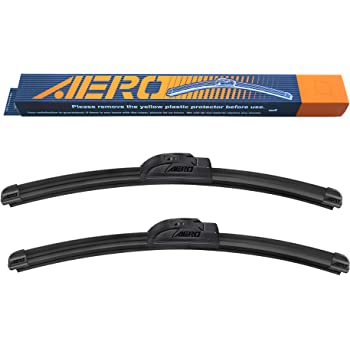 "AERO 24"" + 18"" OEM Quality All Season Beam Windshield Wiper Blades (Set of 2)"