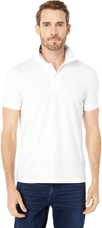 Lacoste Men's Short Sleeve Slim Fit Branded Color Polo