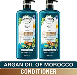 Herbal Essences, Paraben Free Conditioner, Safe for Color Treated Hair, BioRenew Repairing Argan Oil Of Morocco, 20 Fl Oz, Twin Pack