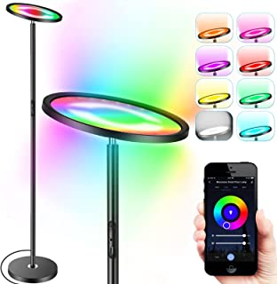 Smart Floor Lamp, Monococo RGBCW Smart WiFi LED Floor Lamp Compatible with Alexa Google, 25W 2000LM Super Bright Standing ...