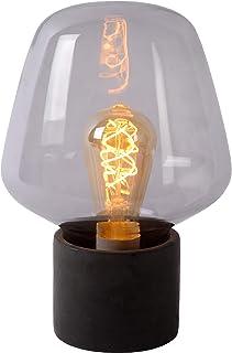 Lucide 45569/01/65 Lampe de table, Verre, E27, 40 W, Fumé, Gris