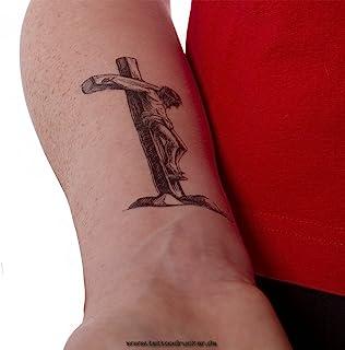 2 x Jezus Christus kruis tattoo - zwart kruis tattoo (2)